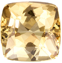 Great Topaz Gemstone in Cushion Cut, Medium Peachy Golden, 6 mm, 1.12 carats