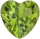 Heart Cut Peridot Gemstones Grade AAA