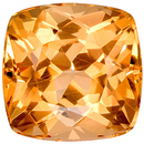Highly Requested Topaz Gemstone in Cushion Cut, Rich Peach Golden, 6.7 x 6.7 mm, 1.77 carats