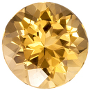 Highly Requested Topaz Gemstone in Round Cut, Rich Peachy Gold, 6 mm, 1 carats