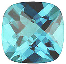 Imitation Blue Zircon Antique Square Cut Checkerboard Stones