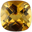 Imitation Citrine Antique Square Cut Checkerboard Stones
