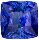 Impressive Blue Ceylon Sapphire, Top Gem in 7.5 x 7.3 mm, Cushion Cut, 3.10 carats