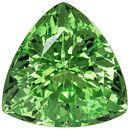 Incredible Green Garnet Loose Gemstone in Trillion Cut, Mint Green, 6.8 mm, 1.27 carats