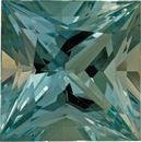 Incredible Rare Aquamarine Loose Gem in Princess Cut, No Heat, Vivid Slight Greenish Blue Color in 16.5mm, 19.76 carats