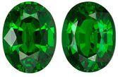Intense Beauty on Tsavorite Matched Pair, Oval cut, 1.93 carats