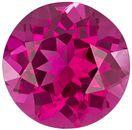 Intense Fuchsia Pink Round No Heat Tourmaline Gem, 7.0 mm, 1.25 carats