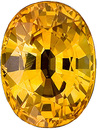 Intense, Rich Yellow  Sapphire with Excellent Clarity from Ceylon, Oval Cut, 2.04 carats