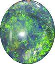 Lively Black Opal Loose Gemstone in Oval Cut, Fire Pattern, 13.1 x 11.4 mm, 4.57 carats