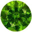 Lively Demantoid Russian Garnet Loose Round Gem, Intense Vivid Green, 5.2 mm, 0.65 carats