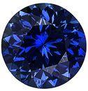 Loose Blue Sapphire Gem Stone, Round Shape, Diamond Cut, Grade AAA, 3.75 mm in Size, 0.25 Carats