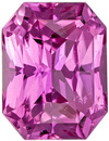 Loose Sapphire in Stunning Radiant Cut, Vivid Rich Pink Color, 6.6 x 5.1 mm 1.16 carats