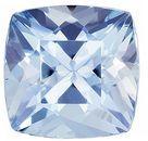 Lovely Aquamarine Gemstone in Cushion Cut, Pure Rich Blue, 7 mm, 1.46 carats