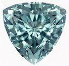 Lovely Rare Trillion Cut Blue Tourmaline Loose Gem, Light Teal Blue, 6.4 mm, 1.02 carats