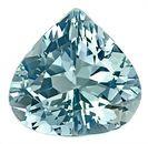 Low Priced Enchanting Medium Blue Aquamarine Genuine Gemstone, Pear Shape,  3.73 carats,