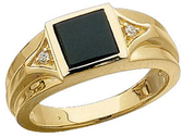 Men's Onyx & Diamond Ring