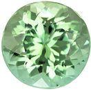 Mint Colored  Round Cut Loose Tourmaline Gem Fiery Gem in 7.2 mm, 1.56 carats
