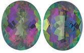 MYSTIC GREEN TOPAZ Oval Cut Gems  - Calibrated