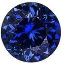 Natural Blue Sapphire Gemstone, Round Shape, Diamond Cut, Grade AAA, 4.50 mm in Size, 0.4 Carats