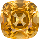 Hard to Find Cushion Cut Topaz Loose Gem, Rich Golden Yellow, 6.7 mm, 1.69 carats