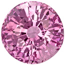 Nice Round Pink Sapphire Loose Gemstone in Pure Medium Pink, 7.0 mm, 2.13 carats