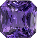 No Heat GIA Rich Purple Sapphire Gem in Radiant Cut, 8.12 x 7.72 x 5.17 mm, 3.13 carats