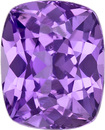 No Heat Purple Sapphire Gem in Cushion Cut in Rich Lavender Purple Color,  6 x 4.9 mm, 0.92 Carats