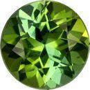 Open Green Tourmaline Genuine Brazil Gem in Round Cut, 6.5 mm, 1.07 Carats