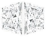 Pair of Trapezoid Diamonds Brilliant Cut F Color  VS Clarity