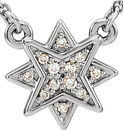 Platinum .04 Carat Total Weight Diamond 16-18