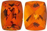 POPPY PASSION TOPAZ Antique Cushion Cut Gems  - Calibrated