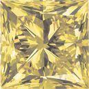 Princess Cut Yellow Enhanced Genuine Diamonds