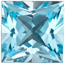 Beautiful Genuine Standard Size Princess Shape Sky Blue Topaz Gemstone Grade AAA, 7.00 mm in Size, 2 Carats