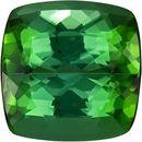 Pure Vivid Green Color Tourmaline Gem in Cushion Cut, 11.4 mm, 8.10 carats