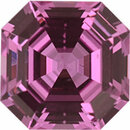Quality Sapphire Loose Gem in Asscher Cut, Light Purple Pink, 5.41 x 5.38  mm, 0.8 Carats