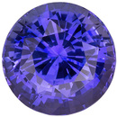 Rare Huge Round Cut Purple Sapphire Loose Gemstone, Vivid Violet Blue Purple, 9.7 mm, 5.06 carats