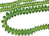 Rare Large, Beautiful Graduated Faceted Bead Strand, Scintillating Namibian Green Demantoid Garnet, Faceted Bead, 3.5 x 6 mm, 111.5 carats