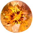 Rare Topaz Gemstone in Round Cut, Peachy Golden, 7 x 7 mm, 1.73 carats