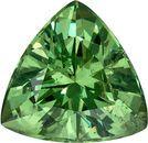 Rare Trillion Cut Demantoid Garnet Loose Gem from Madagascar in Fiery Green, 9.1 mm, 3.09 carats