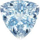 Rich Blue Aquamarine Natural Gemstone from Madagascar in Trillion Cut, 9.4 mm, 2.96 Carats