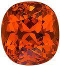 Rich Orange Nigerian Spessartite Stone for SALE! Cushion Cut, 6.18 carats