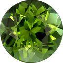 Round Cut Bright Grass Green Tourmaline Loose Gem in 5.9 mm, 0.81 carats