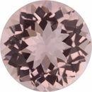 2.35 carats Round Cut Genuine Morganite Gem, 9.1 mm