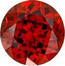 Round Natural Spessartite Stone in Intense Reddish Orange Color, 7.0 mm, 2.05 Carats