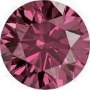 Round Pink Genuine Diamonds Enhanced