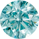 Faceted Enhanced Aqua Blue Diamond Melee, Round Shape, SI Clarity, 1.00 mm in Size, 0.01 Carats