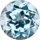 Faceted Genuine Calibrated Size Round Shape Sky Blue Topaz Gemstone Grade AAA, 6.50 mm in Size, 1.3 Carats