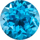 Calibrated Natural Loose Top Quality Round Shape Swiss Blue Topaz Grade AAA, 6.00 mm in Size, 1.05 Carats