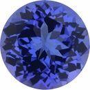 3.45 carats Tanzanite Loose Gemstone in Round Cut, 9.56 mm