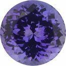 4.96 carats Tanzanite Loose Gemstone in Round Cut, 10 mm